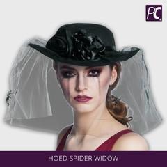 Zwarte hoed met sluier