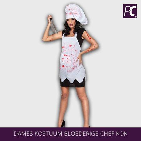 Dames kostuum bloederige chef kok