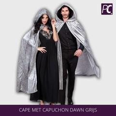 Cape met capuchon Dawn Grijs