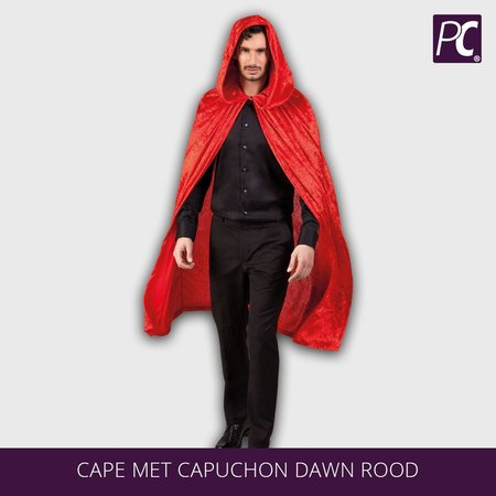 Cape met capuchon Dawn Rood