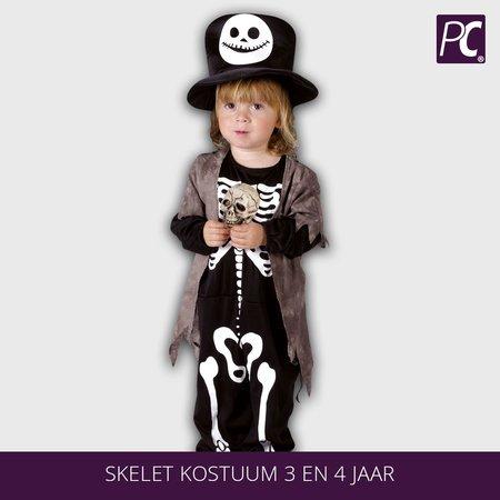 Skelet kostuum 3 en 4 jaar