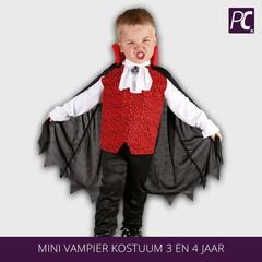Mini Vampier kostuum 3 en 4 jaar