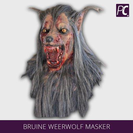 Bruine weerwolf masker