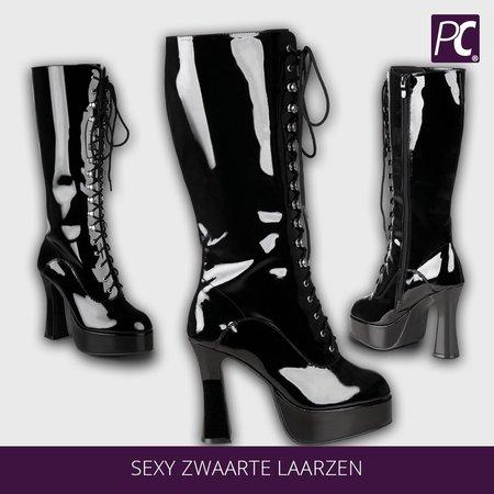 Sexy zwarte laarzen