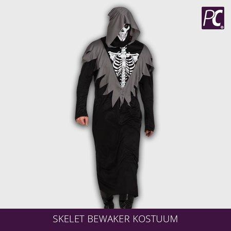 Skelet bewaker kostuum met capuchon