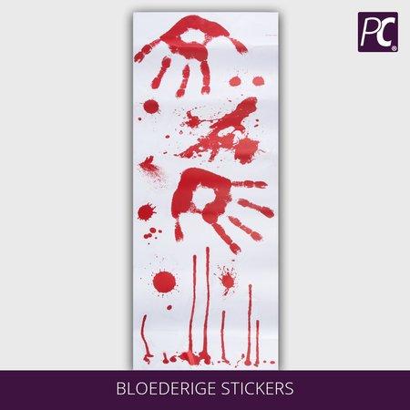 Bloederige stickers