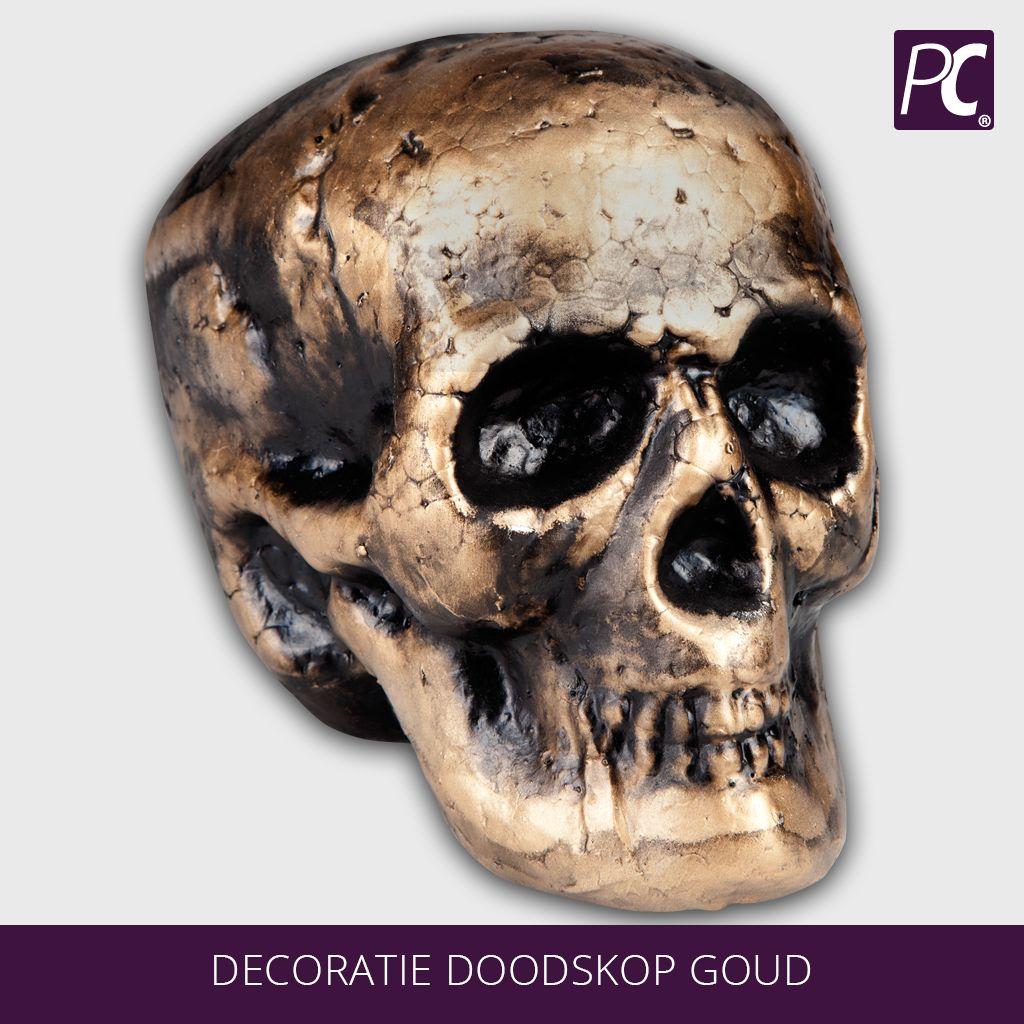 Decoratie doodskop goud for Decoratie spullen