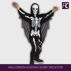 Halloween kleding scary skeleton