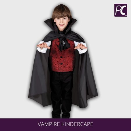 Vampire kindercape zwart (75 cm)