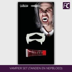 Vampier set (tanden en nepbloed)