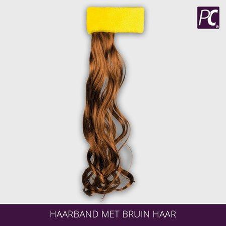 Haarband met bruin haar