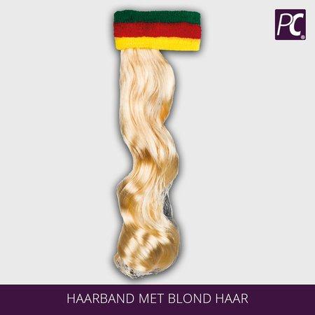 Haarband met blond haar