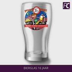 Bierglas 16 jaar