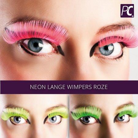 Neon lange wimpers roze