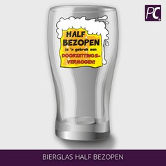 Bierglas half bezopen