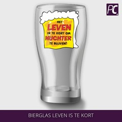 Bierglas leven is te kort