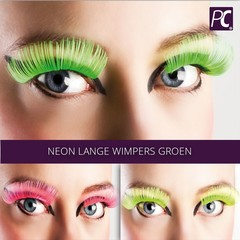Neon lange wimpers groen