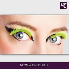 Neon wimpers geel