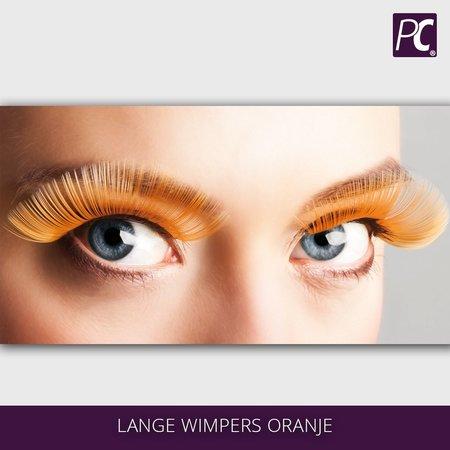Lange wimpers oranje