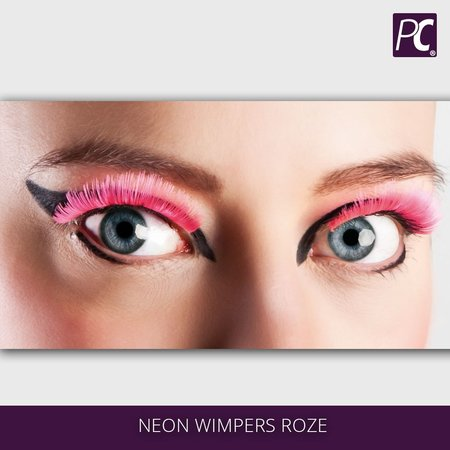 Neon wimpers roze