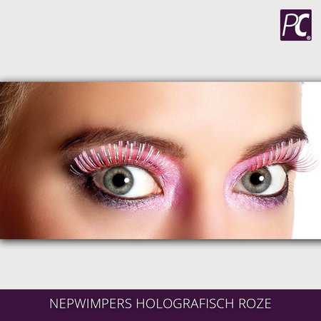 Nepwimpers holografisch roze