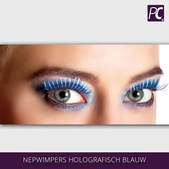 Nepwimpers holografisch blauw