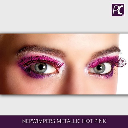 Nepwimpers metallic roze