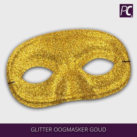 Glitter oogmasker goud kleurig
