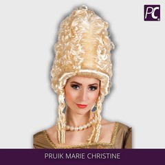 Pruik blond Marie Christine