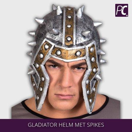 Latex Gladiator helm met spikes