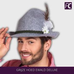 Grijze hoed Ewald deluxe