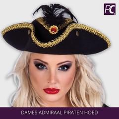 Dames Admiraal Piraten hoed