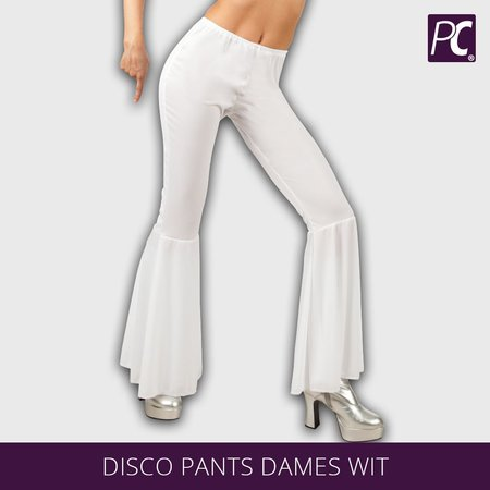Disco broek dames wit