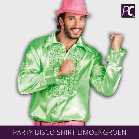Party Disco shirt limoengroen