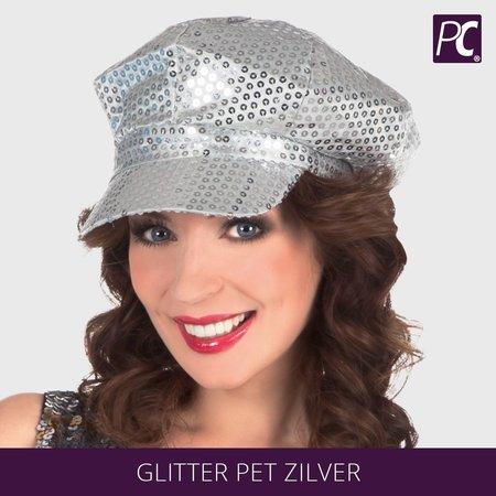 Glitter pet zilver