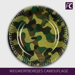 Wegwerpbordjes Camouflage