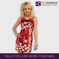 Pailletten jurk Merry Christmas