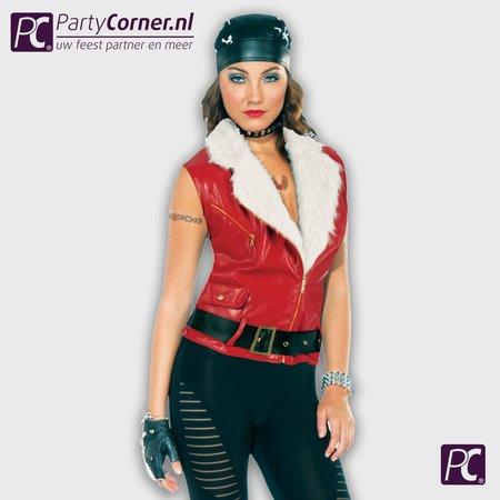 Dames biker jasje rood