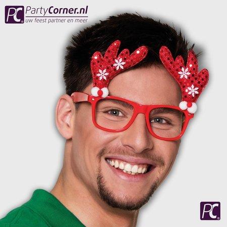 kerst bril rendier
