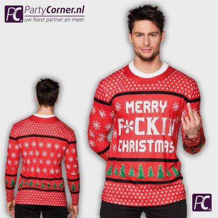 Fotorealistisch shirt Merry f*ckin Christmas