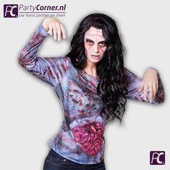 3D T-shirt zombie vrouw