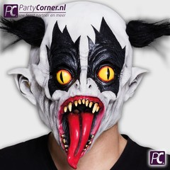 Latex masker evil clown