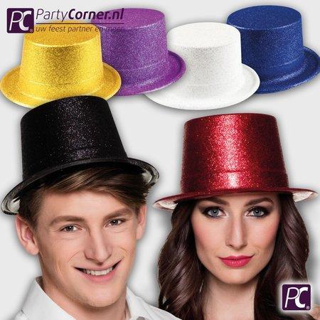 Goedkope hoge glitter hoed