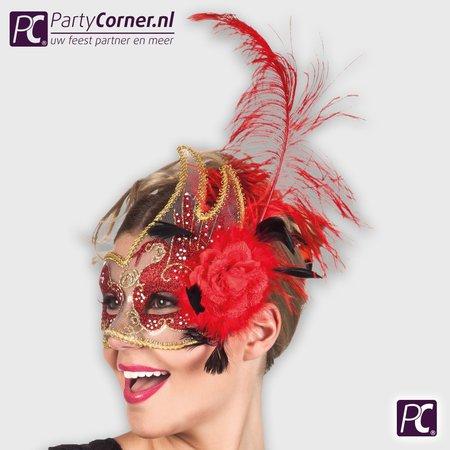 rode Venetiaans masker dames