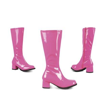 Neon roze retro laarzen kids