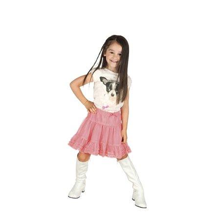 Retro lak laarzen wit voor kinderen