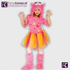 Roze monster kostuum
