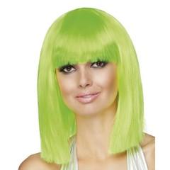 Neon groen pruik