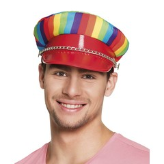 Rainbow bikers cap