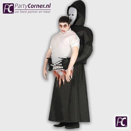 Zombie opblaasbaar kostuum de dood